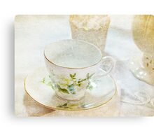 Vintage Cup and Saucer Canvas Print