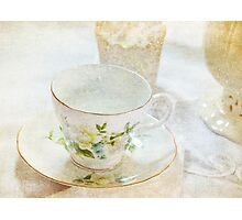 Vintage Cup and Saucer Photographic Print