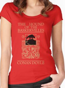 Hound of the Baskervilles Book Cover Women's Fitted Scoop T-Shirt