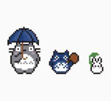 Totoro - pixel art Kids Tee