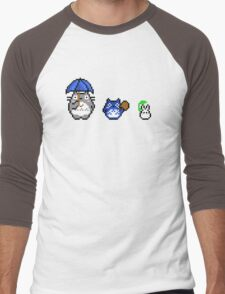 Totoro - pixel art Men's Baseball ¾ T-Shirt