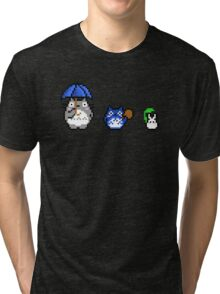Totoro - pixel art Tri-blend T-Shirt