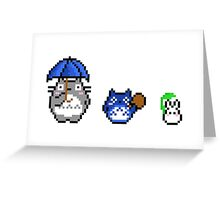 Totoro - pixel art Greeting Card