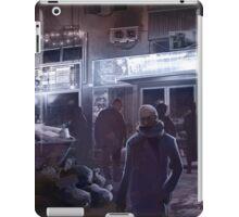 Cyberpunk Street at night iPad Case/Skin