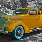 Yellow Coupe w/Red Rumble Seat  by Mike Capone