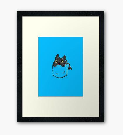 Pocket Toothless Framed Print