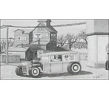 Feed Store Rat Rod Photographic Print