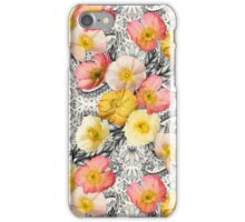 Collage of Poppies and Pattern iPhone Case/Skin