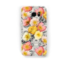 Collage of Poppies and Pattern Samsung Galaxy Case/Skin
