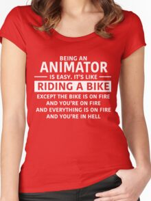 Being an Animator is Easy Women's Fitted Scoop T-Shirt