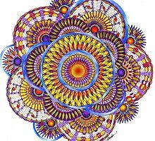 Candy Corn Mandala, by Alma Lee by Alma Lee