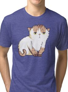 This cat is so done. Tri-blend T-Shirt