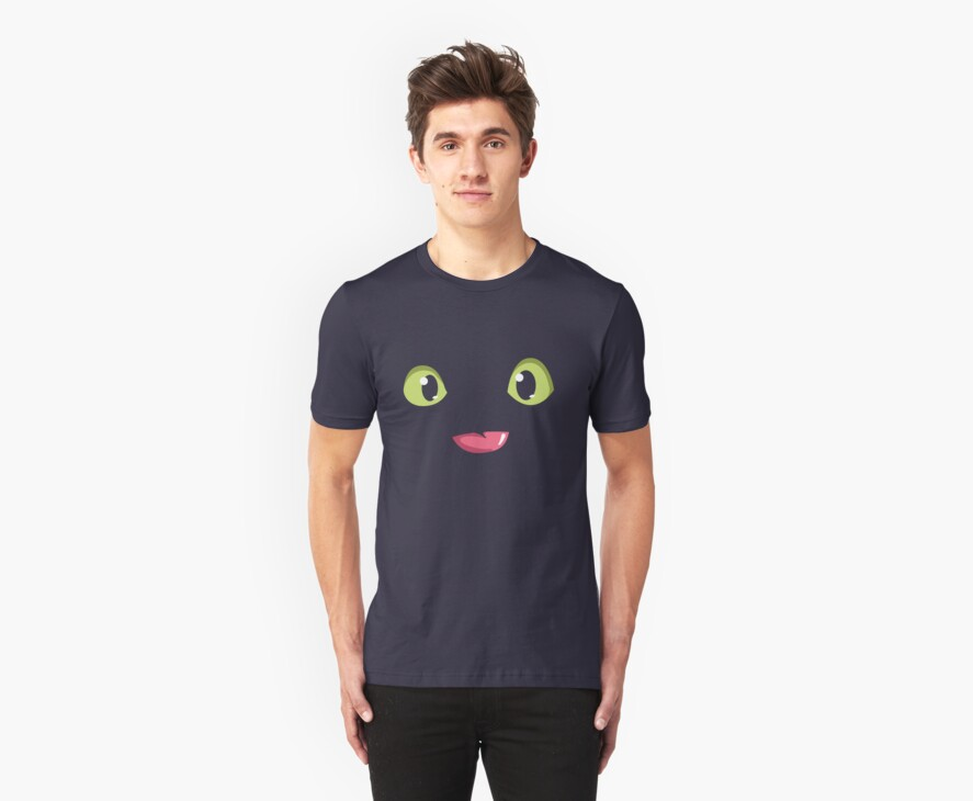 Toothless (How to Train Your Dragon) T-Shirt by Tabner