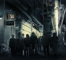 Cyberpunk Street at night by Jujibla
