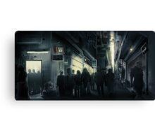 Cyberpunk Street at night Canvas Print