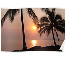 smoky sunrise Poster