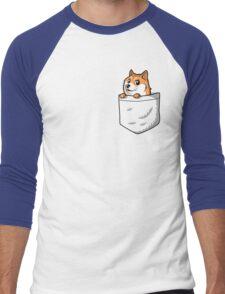 Doge Pocket (Pocket Doge T-Shirt) Men's Baseball ¾ T-Shirt