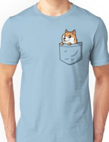 Doge Pocket (Pocket Doge T-Shirt) Unisex T-Shirt