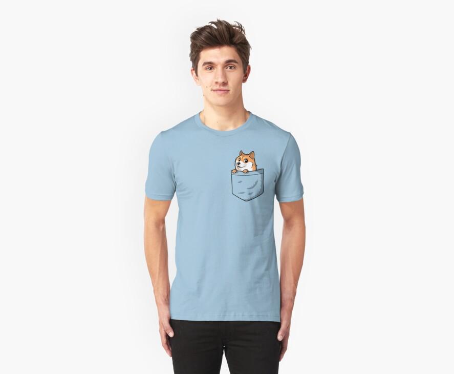 Doge Pocket (Pocket Doge T-Shirt) by Tabner