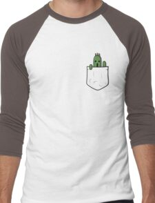 Little Pocket Cactuar Men's Baseball ¾ T-Shirt