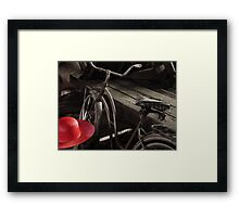 The Red Hat - Series 04 Framed Print