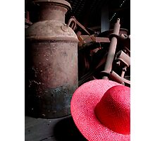 The Red Hat - Series 05 Photographic Print