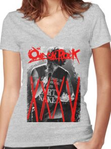 ONE OK ROCK! TAKA!! 35XXXV Women's Fitted V-Neck T-Shirt