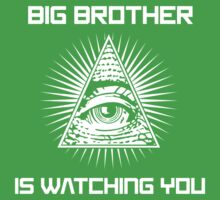 Big Brother Is Watching You Illuminati Eye T Shirt Kids Tee