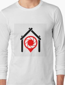 A placement with aperture sign inside a house Long Sleeve T-Shirt