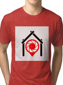 A placement with aperture sign inside a house Tri-blend T-Shirt