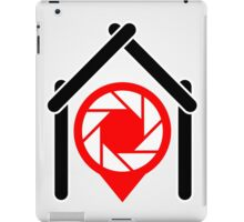 A placement with aperture sign inside a house iPad Case/Skin