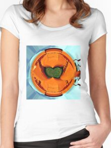 Abstract farm equipment Women's Fitted Scoop T-Shirt