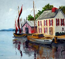 Small and Quaint Marina by Jim Phillips
