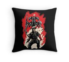 Hellboss Throw Pillow