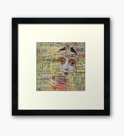 Tattered Illusions Framed Print