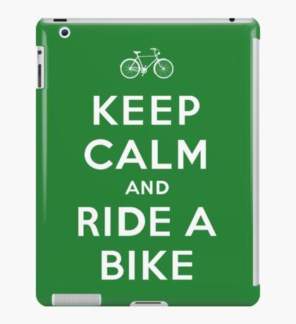 Keep Calm and Ride a Bike iPad Case/Skin