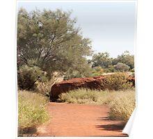 pathways, Uluru walk 1 Poster