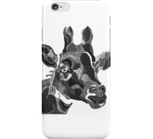 funny girafe looking at us iPhone Case/Skin