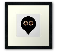 A placement with cute ghost having hazel eyes  Framed Print