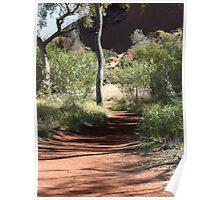 pathways, Uluru walk 3 Poster