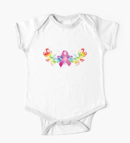 Breast Cancer Awareness Rainbow One Piece - Short Sleeve