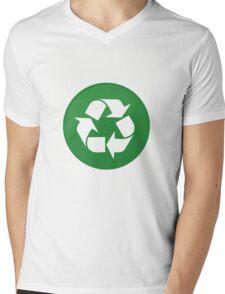 Recycle  Mens V-Neck T-Shirt
