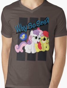 Sweetie Belle WHY SO SRS final. Mens V-Neck T-Shirt