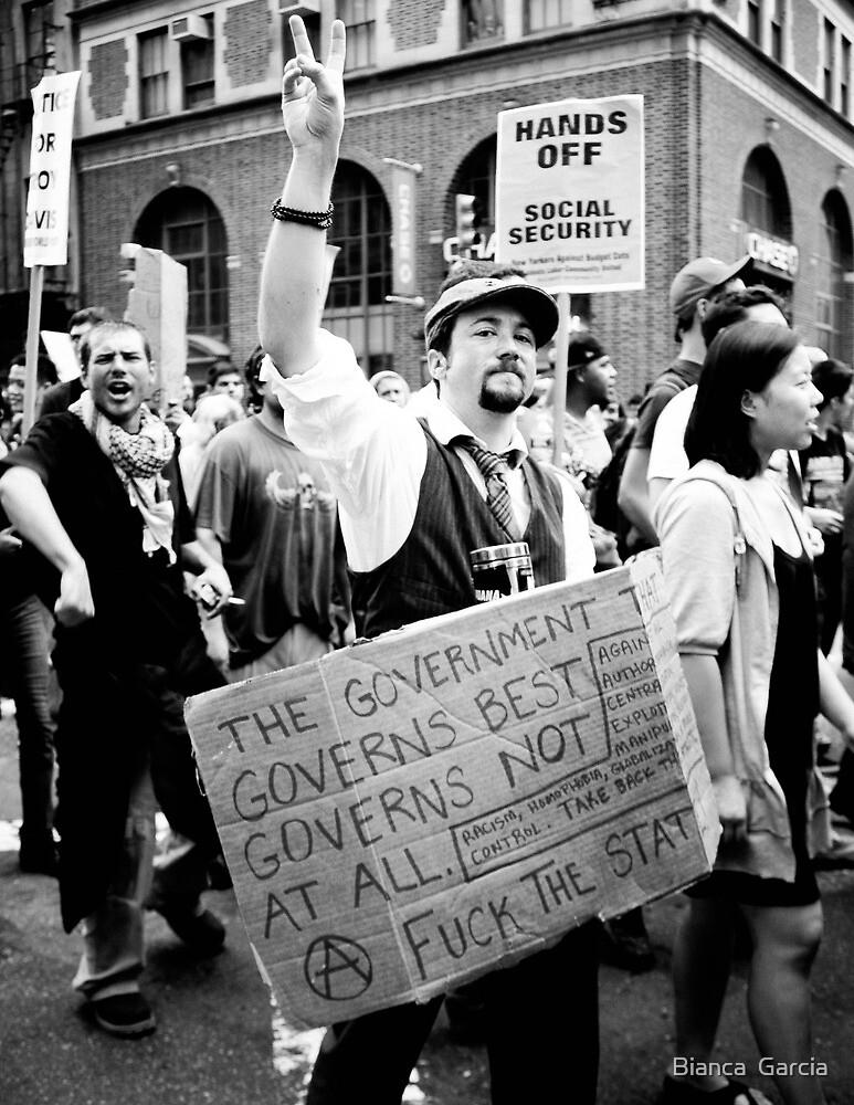 Occupy Wall Street  by Bianca  Garcia