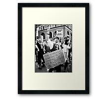 Occupy Wall Street  Framed Print
