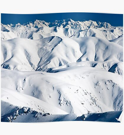 Mountains, New Zealand Poster