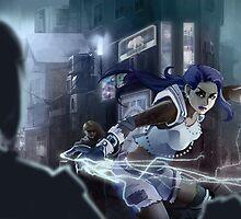 Technomage Battle by Jujibla