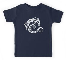 Dragon and Stone (for dark t-shirts) Kids Tee