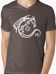 Dragon and Stone (for dark t-shirts) Mens V-Neck T-Shirt
