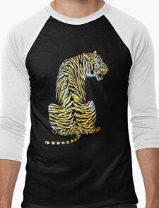 roaring tiger lion back strength Men's Baseball ¾ T-Shirt